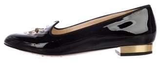 Charlotte Olympia Patent Leather Embellished Loafers