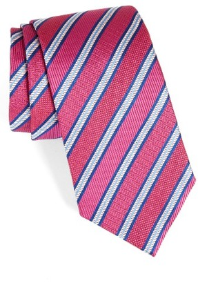 Men's David Donahue Stripe Silk Tie $115 thestylecure.com