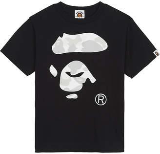 A Bathing Ape Cotton logo T-shirt 4-8 years $91 thestylecure.com