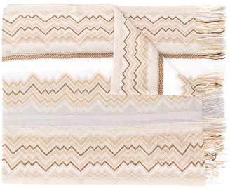 Missoni knitted zig zag scarf