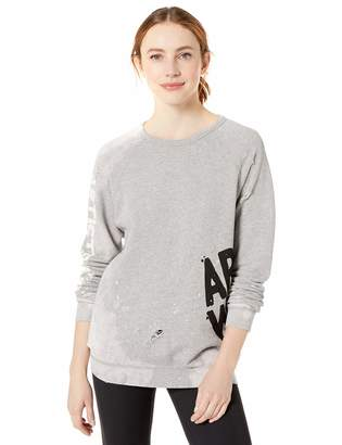 Freecity Women's AW Destroy Holes Splash Raglan Sweatshirt