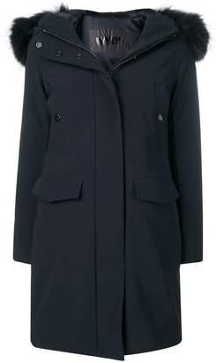 Rrd fur hood trim coat