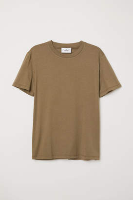 H&M Cotton and Silk T-shirt - Green