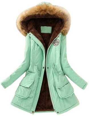 Gillberry Women's Jacket Warm Long Coat Hooded Slim Winter Outwear Tops Women (XL, )