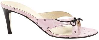La Perla Pink Leather Mules & Clogs