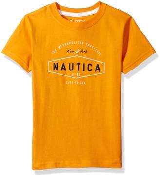 Nautica Little Boys' Short Sleeve Logo Graphic Tee Shirt