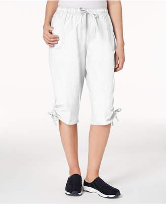 Karen Scott Ruched Leg Skimmer Shorts, Created for Macy's