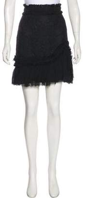 Alexis Lace Ruffle-Trimmed Skirt