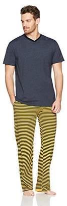 The Slumber Project Men's Short Sleeve Crew Neck Tee and Sleep Pant (