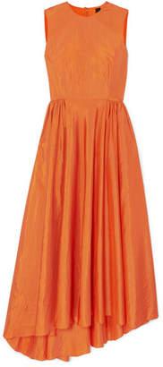 Petar Petrov Damar Asymmetric Taffeta Maxi Dress - Orange