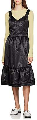 Comme des Garcons Women's Satin Tiered Dress - Black