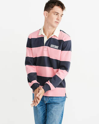 Abercrombie & Fitch Long-Sleeve Rugby Polo