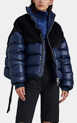 Taverniti So Ben Unravel Project Women's Oversized Puffer Jacket - Blue