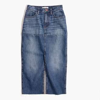 Madewell Reconstructed Midi Jean Skirt