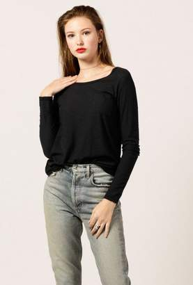 Azalea Malibu Scoop Neck Pocket Top