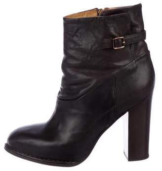 Alberto Fermani Leather High Heel Ankle Boots