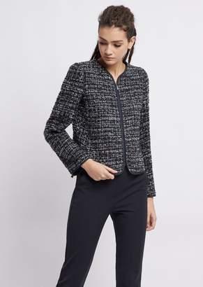 Emporio Armani Tweed Jacket With Zipper