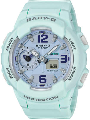 G-Shock Women's Analog-Digital Baby-g Sky Blue Resin Strap Watch 49mm BGA230SC-3B $120 thestylecure.com