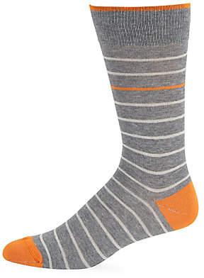 Saks Fifth Avenue Men's Simple Stripe Crew Socks