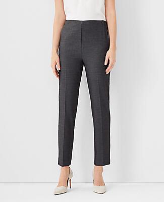 Ann Taylor Petite Bi-Stretch Side Zip Ankle Pants