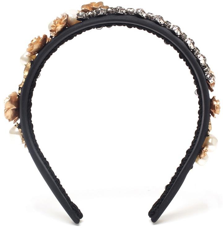 Dolce & Gabbana 'Bsaracco' Encrusted Silk Headband