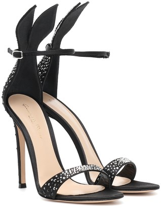 Gianvito Rossi Natalia embellished satin sandals