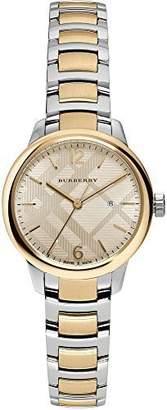 Burberry Women's Swiss The Classic Round Two-Tone Stainless Steel Bracelet Timepiece 32mm BU10118