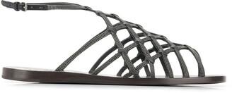 Brunello Cucinelli embellished strappy sandals