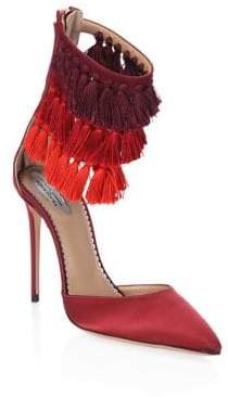 Aquazzura Claudia Schiffer for Lou Lou Tasseled Pumps