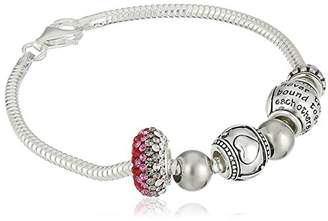 CHARMED BEADS Sterling Silver Mother and Daughter Bead Charm Bracelet