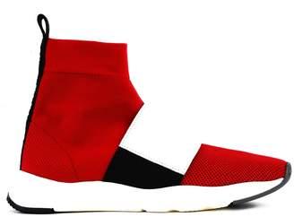 Balmain Sneaker In Mesh And Leather