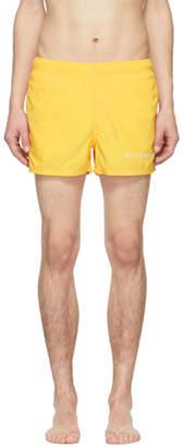 Givenchy Yellow Logo Swim Shorts
