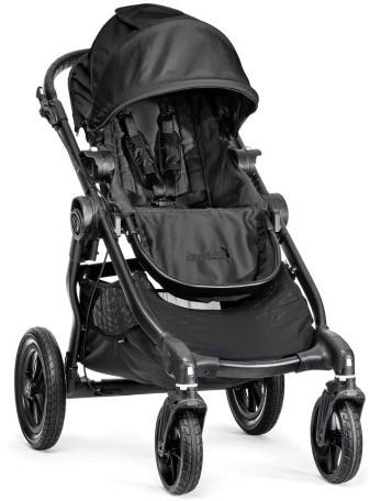 Infant Baby Jogger City Select Black Stroller & Belly Bar