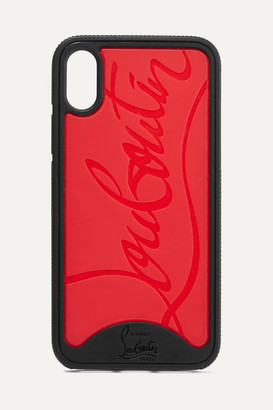 Christian Louboutin Loubiphone Embossed Pvc Iphone Xs Max Case - Red