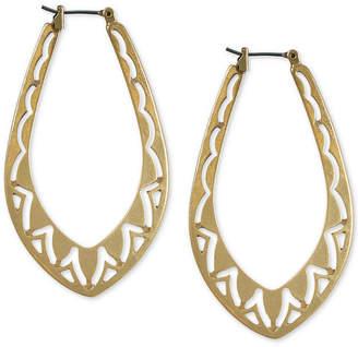 Lucky Brand Gold-Tone Openwork Hoop Earrings