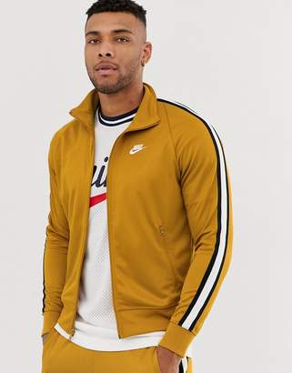 Nike Tribute track jacket in gold