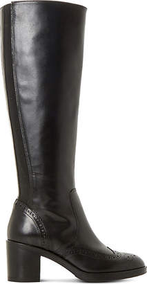 Dune Black Tilbrey leather knee-high boots