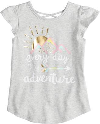 "Girls 4-10 Jumping Beans ""Everyday Is An Adventure"" X-Back Graphic Tee"