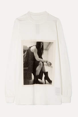 Rick Owens Larry Minerva Printed Cotton-jersey Top - Cream