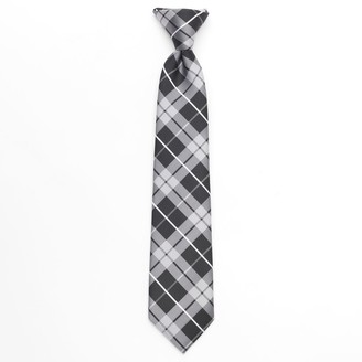 Chaps Boys Plaid Clip-On Tie