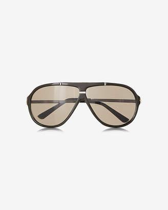 Express Shiny Shield Sunglasses