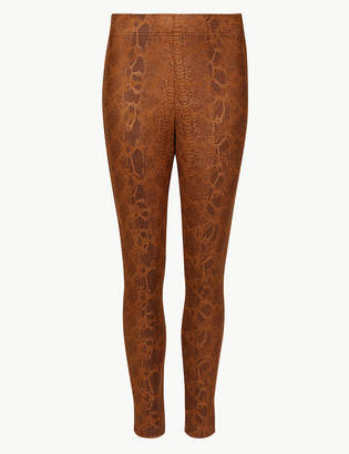 Marks and Spencer Animal Print Skinny Leg Trousers