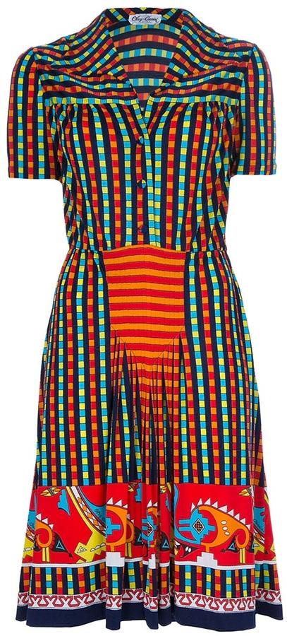 Oleg Cassini Vintage Tribal dress