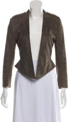 Haider Ackermann Suede Asymmetrical Jacket Grey Suede Asymmetrical Jacket