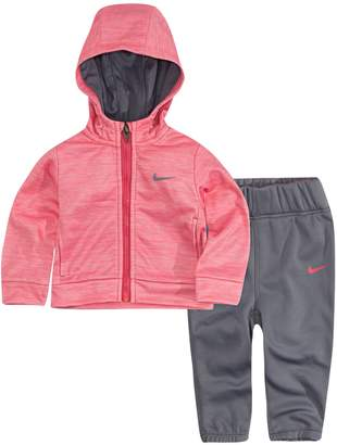 Nike Baby Girl Therma-FIT Hooded Jacket & Pants Track Suit Set
