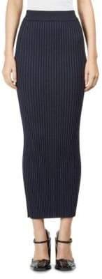 Kenzo Body-Con Rib-Knit Midi Skirt