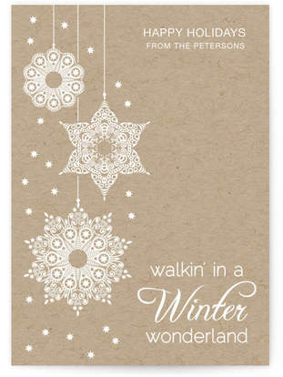 White Winter Wonderland Custom Selflaunch Stationery