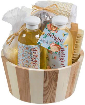 Freida & Joe Delight Spa Gift Set In Two Tone Wood Basket
