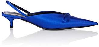 Balenciaga Women's Knife Satin Slingback Pumps - Royal Blue