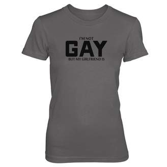 Vine Fresh Tees - Ladies/Juniors I'm Not Gay But My Girlfriend is T-Shirt - Ladies/Juniors X-Small